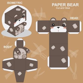 Papier handwerk bär vorlage