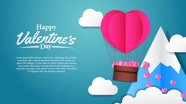 Papier-handwerk der illustration liebe valentinstag