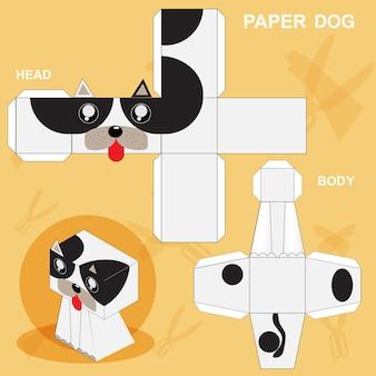 Papier-hundeschablone