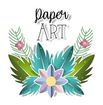 Papier kunst landschaft