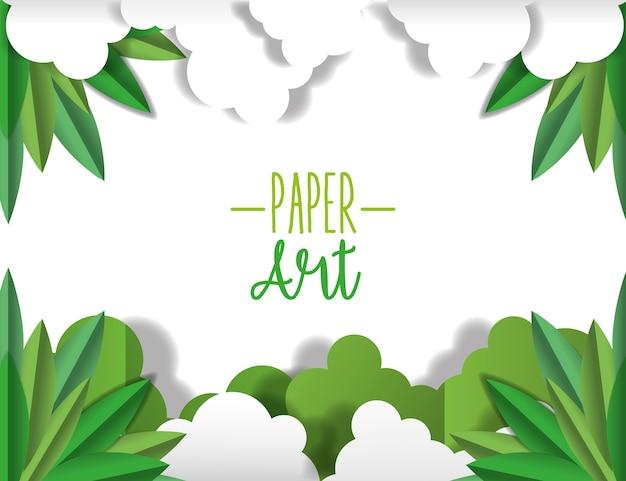 Papier kunst rahmen