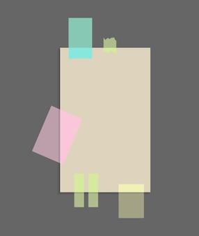 Papier notizen aufkleber design