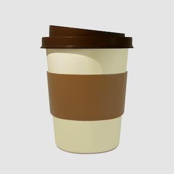 Papier realistische kaffeetasse kaffeetassen.