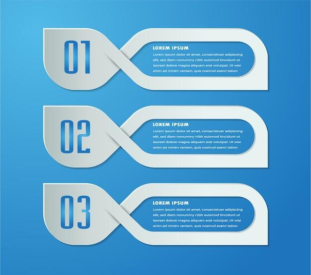 Papier textfeld vorlage, banner infografik