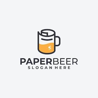 Papier- und bierlogodesign