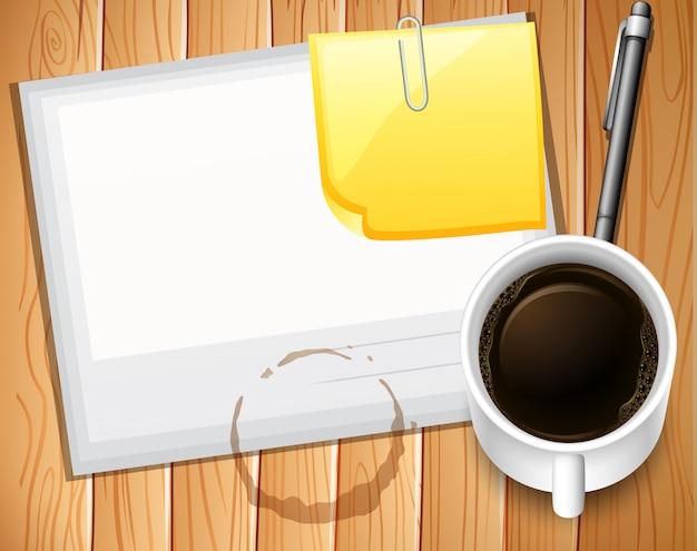 Papier und kaffee