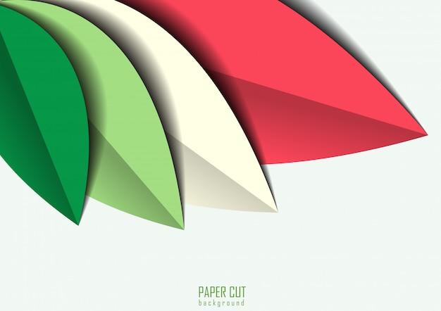 Papier verlassen farbigen hintergrund