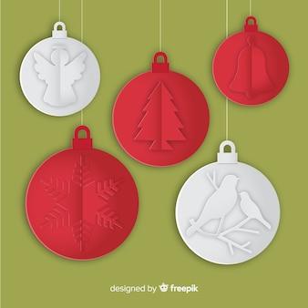 Papier weihnachtskugeln sammlung