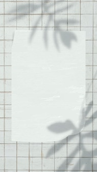 Papieranmerkungshintergrundtapetenvektor auf ästhetischem blattschatten