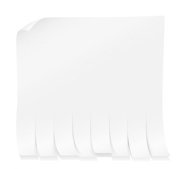 Papieranzeige zum aufkleben an der wand mit tränenstreifen-vektorillustration