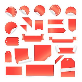 Papieraufkleber und -aufkleber lokalisiert
