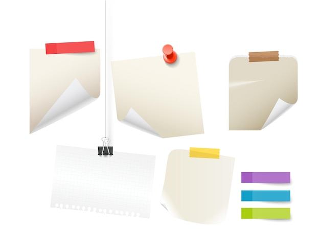 Papieraufkleber vektormodell