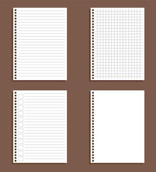 Papierbogen in nähten und in einem käfig isoliert, to-do-liste