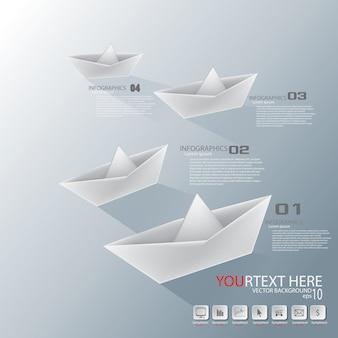 Papierboot infografik