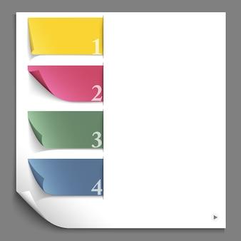 Papierdesign infografik für website-layout