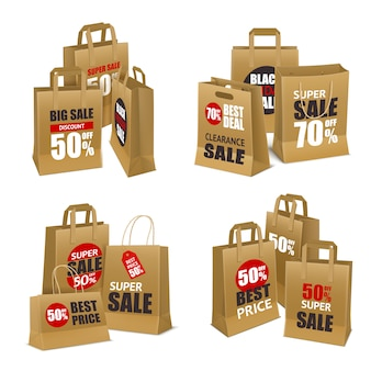 Papiereinkaufsverkauf taschen