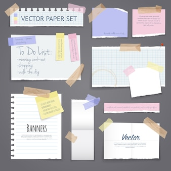Papierfahnen mit klebeband