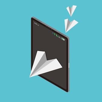 Papierfliegenfreiheit ist technologie und kommunikation