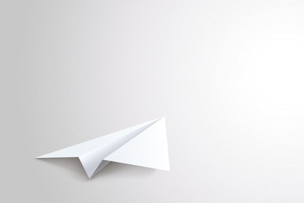 Papierflugzeug liegen