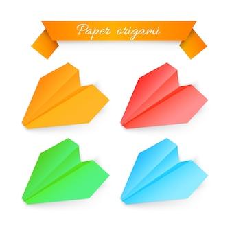 Papierflugzeug-origami