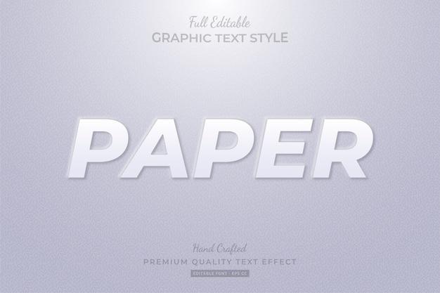 Papiergeprägter bearbeitbarer benutzerdefinierter textstil-effekt premium