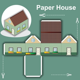 Papierhaus-vorlage