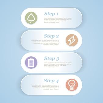Papierhintergrund mit zahlen zur infografikdarstellung. illustration.