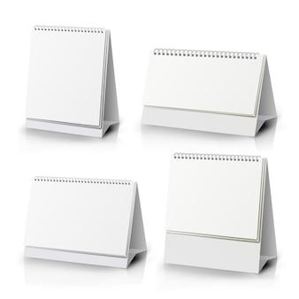 Papierkalender blank set. vertikale realistische stehende leere spirale