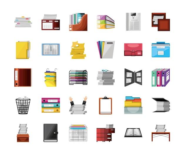 Papierkram büromaterial