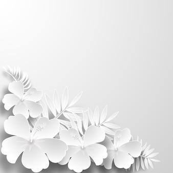 Papierkunst blumen hintergrund