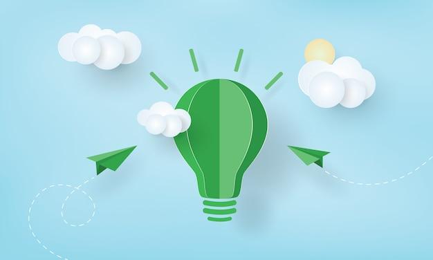 Papierkunst der grünen ökologie