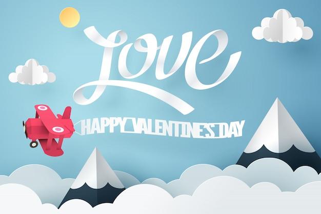Papierkunst der liebe und des glücklichen valentinstags