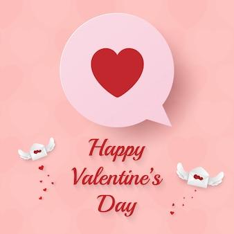 Papierkunst der netten liebesblase für valentinstag
