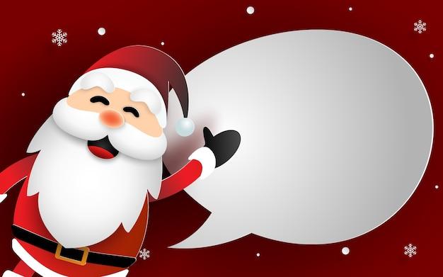Papierkunst von santa claus merry christmas und guten rutsch ins neue jahr