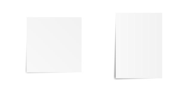 Papierliste mit schatten gesetzt