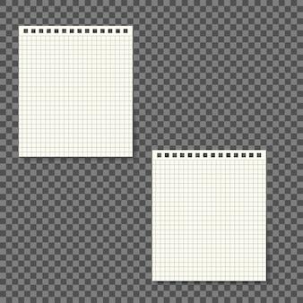 Papiernotizblock getrennt auf transparentem hintergrund.