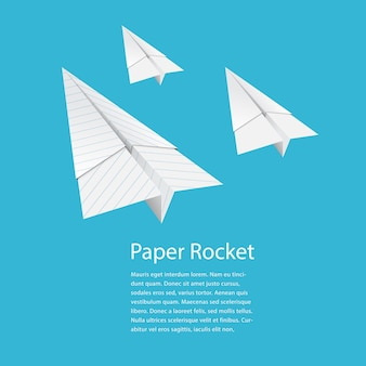 Papierraketen falten
