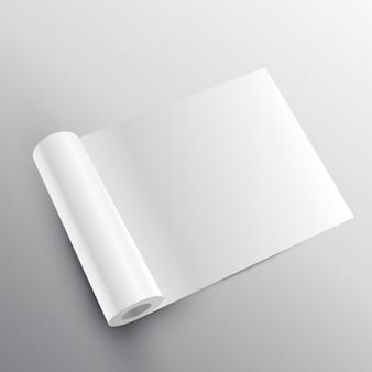Papierrolle mockup in 3d-stil