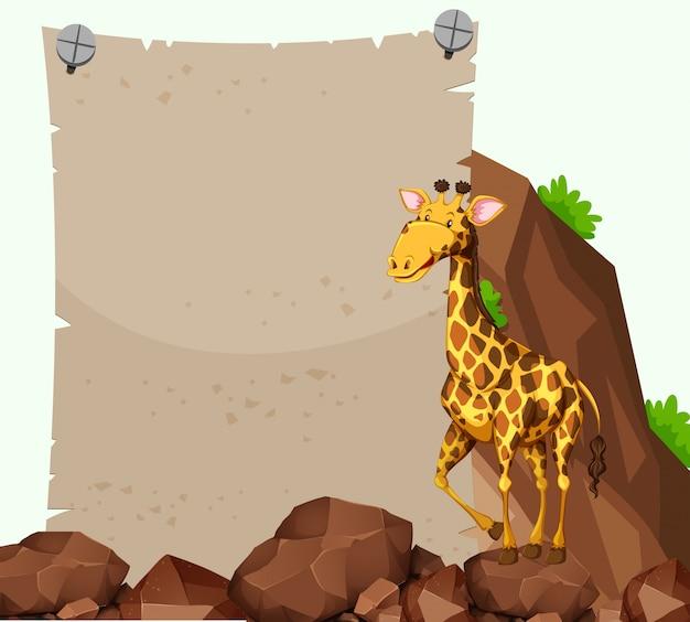 Papierschablone mit giraffe