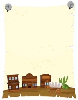 Papierschablone mit weststadt