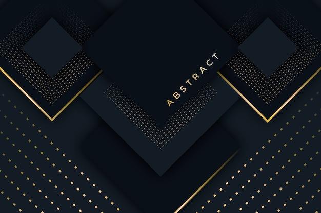 Papierschichtenhintergrund mit goldenen details