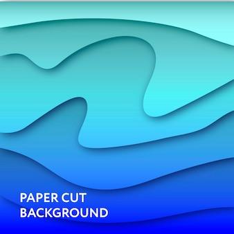 Papierschnitt-kunst-illustration der hintergrund-zusammenfassungs-vektor-farbsteigung 3d