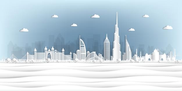 Papierschnittart vereinigte arabische emirate
