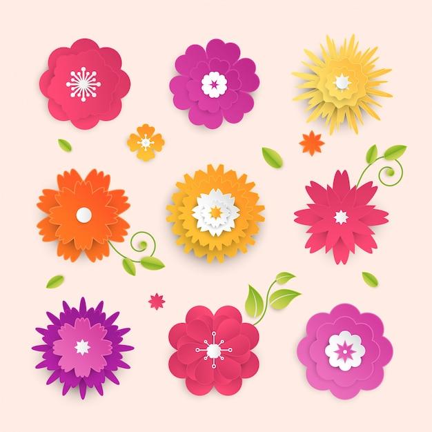 Papierschnittblumen