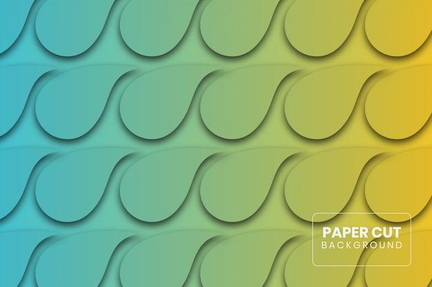 Papierschnittformsteigungs-hintergrunddesign