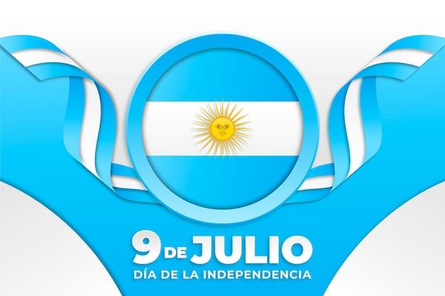 Papierstil 9 de julio - erklärung der unabhängigkeit der argentinischen illustration