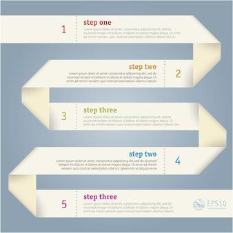 Papierstreifen infografiken vorlage.