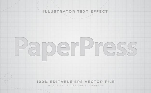 Papiertexteffekt