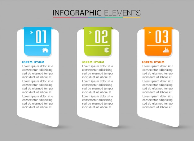 Papiertextfeldvorlage, banner infographik