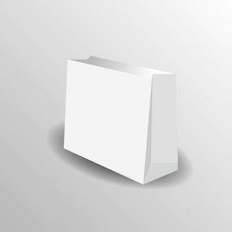 Papiertüte mock-up vektor vorlage